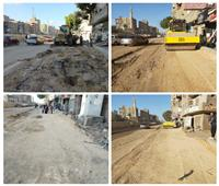 استمرار أعمال التوسعة بشارع ترعة الزمر