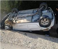 إصابة 4 أشخاص في انقلاب سيارة بأسوان