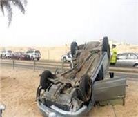 إصابة 9 بينهم 7 أطفال في حادث انقلاب سيارة بالوادي الجديد