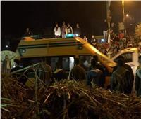 إصابة 9 أشخاص في حادثي بالمنيا