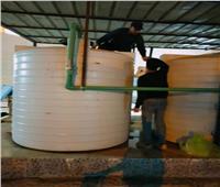 تطهير خزانات ومحطات المياه الرئيسية بشمال سيناء