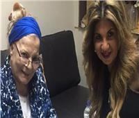 بوسي شلبي تحيي الذكرى الأولى لوفاة نادية لطفي من المقابر