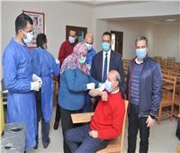 الأطقم الطبية تتلقى لقاح «كورونا» بجامعة كفر الشيخ