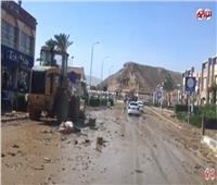 عودة الحياة لطبيعتها بجنوب سيناء بعد إزالة آثار السيول | فيديو