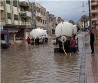 شفط مياه الأمطار من شوارع شمال سيناء.. وشركة المياه ترفع حالة الاستعداد