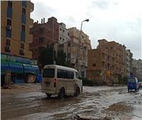 أمطار غزيرة محملة بـ «البرَد» تضرب السويس| فيديو