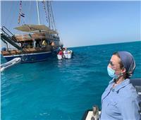 وزيرة البيئة تشارك العاملين لمتابعة الأنشطة بمحميات البحر الأحمر