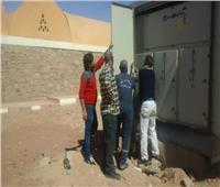 صيانة محولات الكهرباء بقرى «وادي كركر» بأسوان