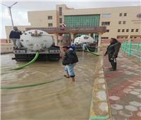 إزالة آثار الأمطار والسيولبمدن شمال سيناء