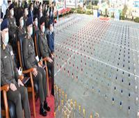 وزير الدفاع يشهد حفل إنتهاء فترة الإعداد العسكري لطلبة الكليات العسكرية