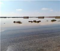 سحب مياه السيول من قرية الجفجافة بوسط سيناء