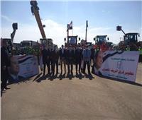 محافظ كفر الشيخ يتفقد المعدات المشاركة في تطوير 18 قرية
