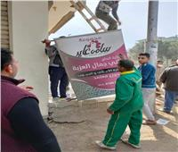 إزالة 30 لوحة إعلانية مخالفة بمركز شبين الكوم