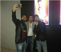 توني ماهر ومحمد عز وأحمد سلطان في العرض الخاص لـ «شاومينج»