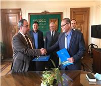جامعة الإسكندرية توقع عقدا للإشراف على مشروع تبطين الترع بمنطقة الدلنجات