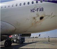 بالصور والفيديو.. لحظة احتراق الطائرة المدنية السعودية بمطار أبها