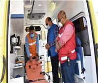 محافظ أسوان يدشن 10 سيارات إسعاف جديدة