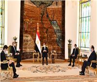 الرئيس السيسي يستقبل رئيس الوزراء بالمملكة الأردنية الهاشمية| صور