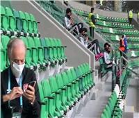 خاص بالفيديو| إحماء الأهلي وأجواء ملعب مواجهة بالميراس