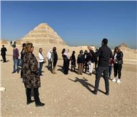 زوجات سفراء العالم في زيارة لمنطقة آثار سقارة | صور