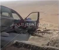 مصرع 3 أشخاص و إصابة 7 بينهم حالات خطرة في حادث تصادم بالمنيا .. فيديو
