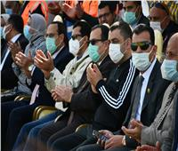 وزير الرياضة ومحافظ شمال سيناء يشهدان التصفيات النهائية لدوري مراكز الشباب