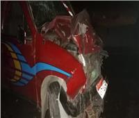نيابة المنياتعاين موقع حادث تصادم سيارتين بطريق الصعيد