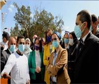 وزيرة البيئة : «صفط تراب»تعتبر بداية التحول لقرى نموذجية ضمن«حياة كريمة»