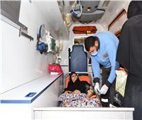 وزيرة الصحة: نقل «عواطف» لبدء العلاج على نفقة الدولة مستشفى الشيخ زايد.. صور