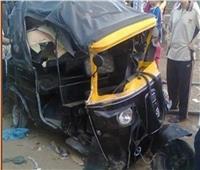 إصابة طالبين  في حادث «توك توك» بالمنيا