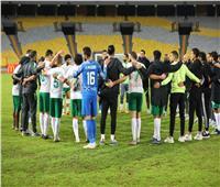 انطلاق الشوط الثاني من مباراة المصري والمنصورة