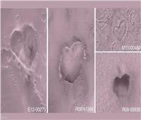 عيد الحب في الفضاء.. ناسا تنشر صور قلوب على «المريخ»