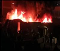 انفجار شديد بمستودع خردة في قرية بطنطا.. صور