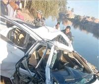 مصرع وإصابة 6 أشخاص في حادث تصادم بأسيوط| صور