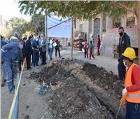 مد وتدعيم شبكات مياه قرية جريس بالمنيا ضمن مبادرة حياة كريمة