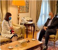 وزير الخارجية يستقبل المنسق المقيم الجديدة للأمم المتحدة بالقاهرة
