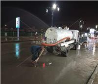 جهود مكثفة لإزالة آثار الأمطار بـ«دمياط»