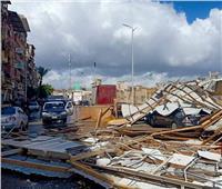 سقوط سقف خشبي بسبب سوء الأحوال الجوية بدمياط
