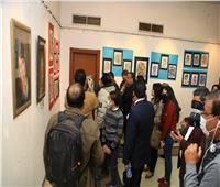 افتتاح معرض فن تشكيلى لرواد ثقافة سوهاج  صور