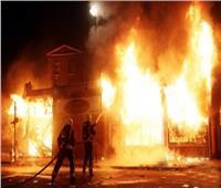 حريق في سوق تجاري بمحيط «السيدة زينب»