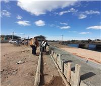 الإنتهاء من تبطين ترعة الكلابية شمال كوبري الطود بطول 140 متر