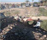 قوات الإنقاذ تبحث عن سائق تروسيكل سقط في ترعة بفرشوط