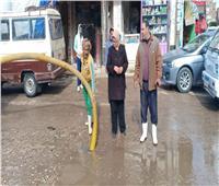 تواصل عمليات شفط تراكمات مياه الأمطار بالمنوفية