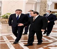 الرئيس السيسي يستقبل رئيس الحكومة الليبية الجديدة| صور