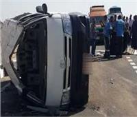 إصابة ضابطي شرطة و6 أفراد ومجندين في حادث بالمنيا