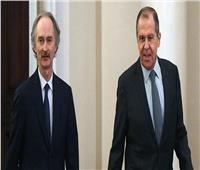 لافروف يبحث مع المبعوث الأممي لسوريا تطورات اللجنة الدستورية