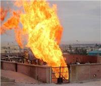 «نيابة المنيا» تعاين حريق مخزن أنابيب قرية «تنده» بملوي