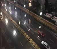 سقوط أمطار خفيفة على مناطق متفرقة بالجيزة| صور