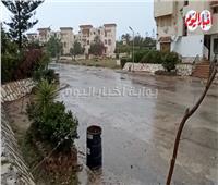 فيديو.. أمطار غزيرة تضرب الساحل الشمالي والإسكندرية