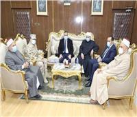 محـافظ المنوفية يستقبل وزير الأوقاف لافتتاح مسجد «عصمت السادات»